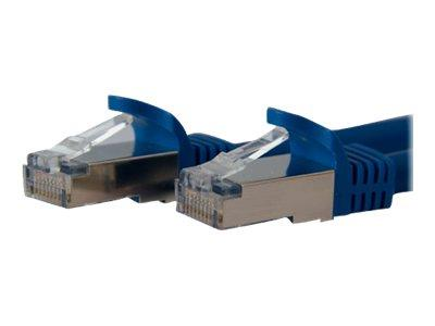 StarTech.com 7 ft Cat 6a Blue Shielded Molded 10 Gigabit RJ45 STP Cat6a Patch Cable