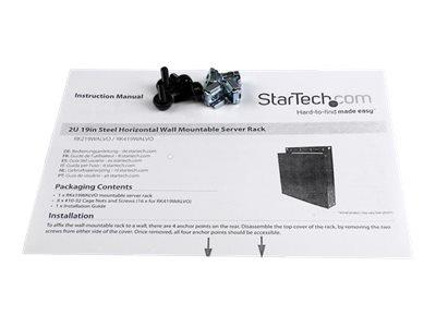 StarTech.com 2U 19in Steel Horizontal Wall Mountable Server Rack