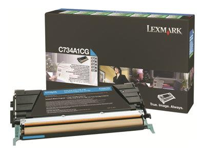 Lexmark - Toner cartridge - 1 x cyan - 6000 pages - LCCP, LRP