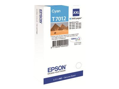 Epson Print cartridge - XXL - 1 x Cyan - 3400 pages - for WorkForce Pro WP4000/4500 Series