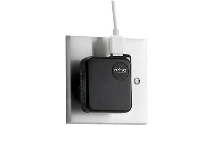 Veho USB Mains Charger Adaptor - 3 PIN - Black