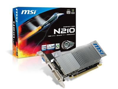 MSI GeForce GT 210 589MHz 1GB PCI-Express HDMI Low Profile