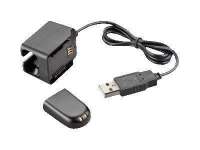 Plantronics Spare USB Deluxe Charging Kit - USB Charger & Spare Battery for WH500, Savi W440 & W740