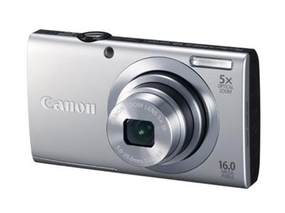 Canon PowerShot A2400 IS Digital camera - 16.0 Mpix - 5x Optical Zoom - Silver - incl 4GB SD Card