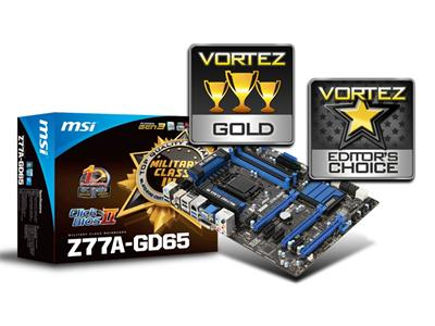 MSI Z77A-GD65 S1155 Intel Z77 DDR3 ATX