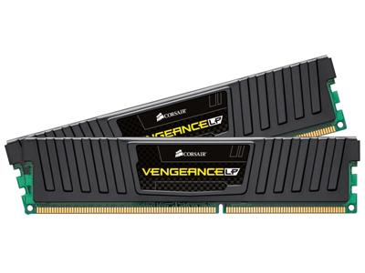 Corsair 16GB (2x8GB) DDR3 1600Mhz CL10 Vengeance Low Profile Black Performance Desktop Memory Kit