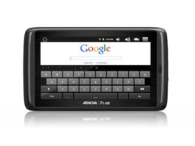 "Archos ARNOVA 7b G2 4GB 7"" Capacitive Multitouch Screen Built-in Webcam Android 2.3"