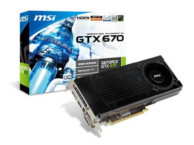 MSI GeForce GTX 670 965MHz 2GB PCI-Express 3.0 HDMI OC