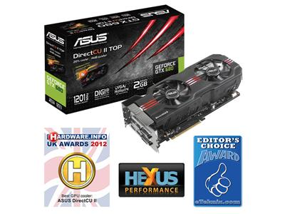 Asus GeForce GTX 680 2GB PCI-Express 3.0 HDMI Direct CU II TOP