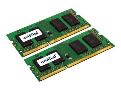 Crucial 8GB (2 x 4GB) DDR3 1333MHz SO DIMM 204-pin CL9 Low Voltage 1.35V
