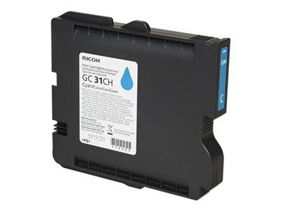 Ricoh Cyan Gel - High Yield GC 31CH  (4,890 prints)