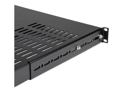 StarTech.com 1U Adjustable Mounting Depth Vented Rack Mount Shelf - Heavy Duty - 250lbs / 113kg