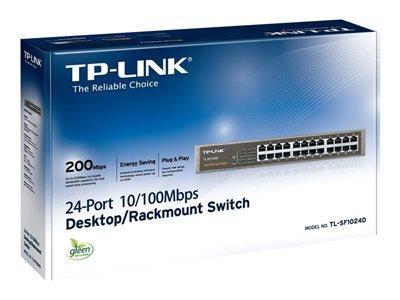TP LINK 24-Port 10/100 Rackmount Unamanged Switch