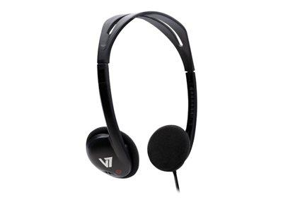 V7 Standard Headphones - Black (HA300-2EP)