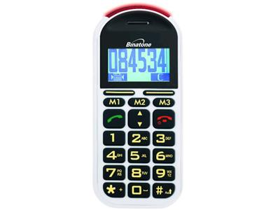 Binatone Big Button GSM 200 Plus Mobile Phone - White