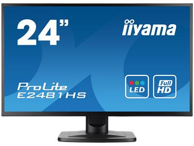 "iiyama ProLite E2481HS-B1 24"" 1920x1080 2ms VGA DVI-D HDMI Black Monitor with Speakers"