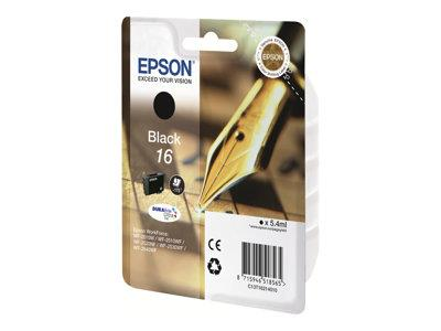 Epson 16 - Ink Cartridge - 1 x Black - 175 pages - Pen and Crossword