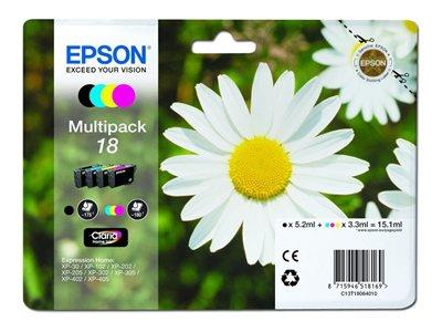Epson 18 Multipack - Print cartridge - 1 x black, yellow, cyan, magenta - blister
