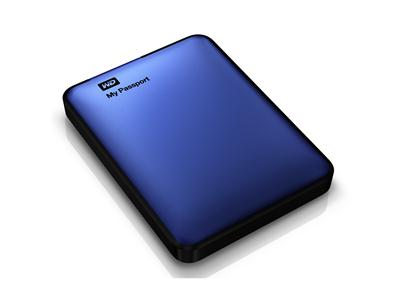 "WD 2TB My Passport USB 3.0 2.5"" Portable Hard Drive Blue"