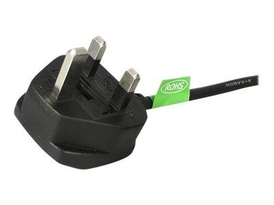 StarTech.com 3m UK Computer Power Cord - 3 Pin Mains Lead - C13 to BS-1363
