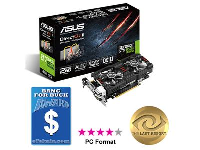 Asus GeForce GTX 650 Ti BOOST 1020MHz 2GB PCI-E 3.0 HDMI DirectCU II OC