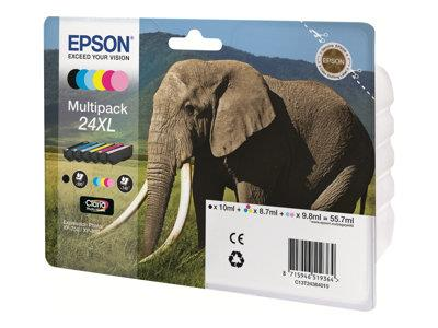 Epson XP750/850 6-Pack Ink Cartridge 24XL Elephant
