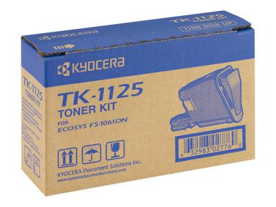 Kyocera TK-1125 Black Toner Cartridge 2.1k Yield