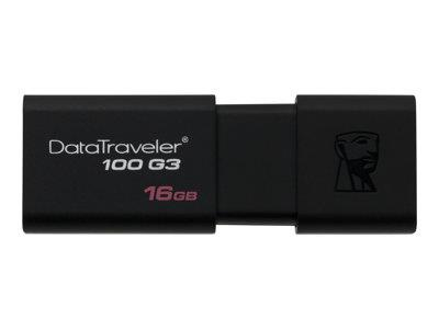 Kingston DataTraveler 100 G3 USB flash drive 16 GB - USB 3.0 Black