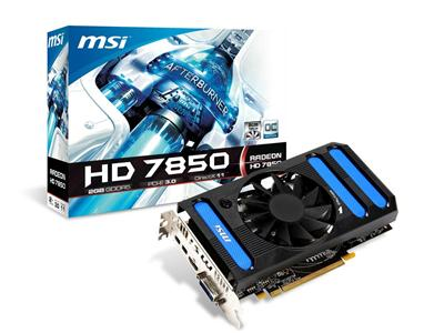 MSI AMD Radeon 7850 900MHz 2GB PCI-Express 3.0 HDMI OC
