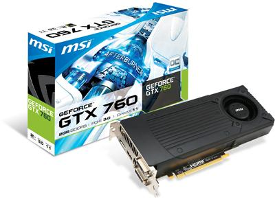 MSI GeForce GTX 760 1006MHz 2GB PCI-Express 3.0 HDMI OC