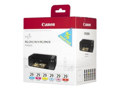 Canon PGI-29 CMY/PC/PM/R Multipack - Ink - yellow, cyan, magenta, red, photo cyan, photo magenta