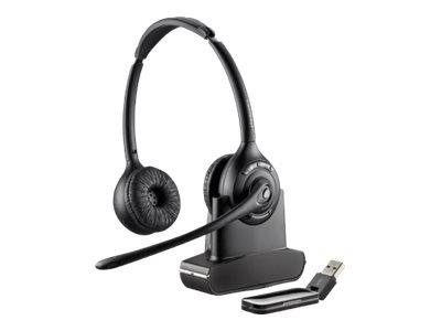 Plantronics Savi W420A-M Duo/Stereo/Binaural Wireless USB Headset - Optimised for MS Lync