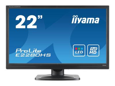 "iiyama ProLite E2280HS 22"" 1920x1080 5ms HDMI DVI-D VGA Black Monitor with Speakers"