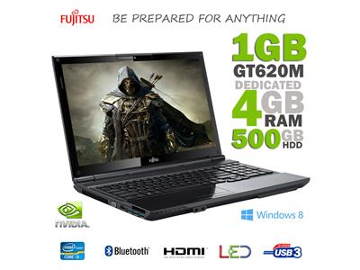 "Fujitsu AH532 Intel Core i3-3110M 4GB 500GB NVIDIA GT620M 1GB 15.6"" HDMI USB3 Windows 8 Laptop"