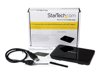 StarTech.com 2.5in USB 3.0 External SATA III SSD Hard Drive Enclosure with UASP
