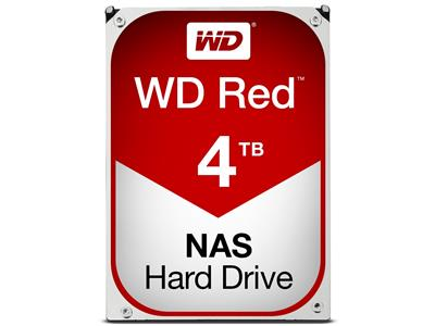 WD Red 4TB NAS Desktop  Hard Disk Drive - Intellipower SATA 6 Gb/s 64MB Cache 3.5 Inch - WD40EFRX