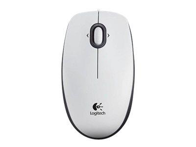 Logitech B100 Optical Mouse for Business White