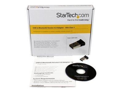 StarTech.com Mini USB Bluetooth 4.0 Adapter 50m (165ft) Class 1 EDR Wireless Dongle