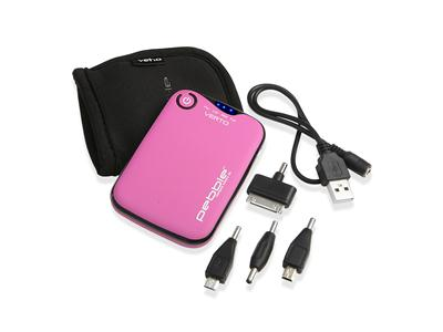 Veho PEBBLE™ Verto Portable Charger 3700mAh - Pink