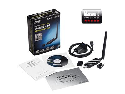 Asus USB-AC56 Dual-band Wireless-AC1200 USB 3.0 Wi-Fi Adapter