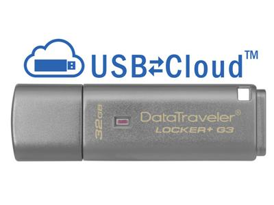 Kingston 32GB DataTraveler Locker+ G3 USB3 Flash Drive
