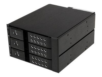 StarTech.com 3 Bay Aluminum Trayless Hot Swap Mobile Rack Backplane for 3.5in SAS II/SATA III