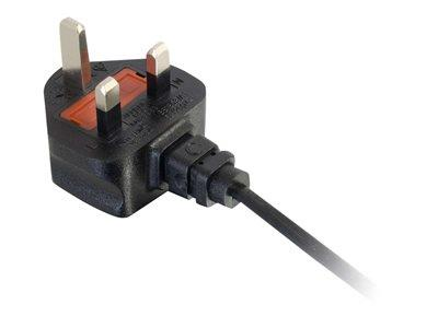 C2G 1m UK Non-Polarised Power Cord (BS 1363 to IEC 60320 C7)