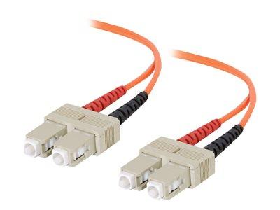 C2G 15m SC-SC 62.5/125 OM1 Duplex Multimode PVC Fibre Optic Cable (LSZH) - Orange