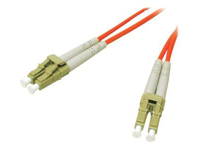 C2G 30m LC-LC 62.5/125 OM1 Duplex Multimode PVC Fibre Optic Cable (LSZH) - Orange