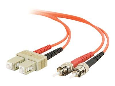 C2G 7m SC-ST 50/125 OM2 Duplex Multimode PVC Fibre Optic Cable (LSZH) - Orange