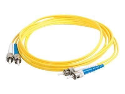C2G 3m ST-ST 9/125 OS1 Duplex Singlemode PVC Fibre Optic Cable (LSZH) - Yellow