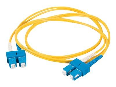 C2G 10m SC-SC 9/125 OS1 Duplex Singlemode PVC Fibre Optic Cable (LSZH) - Yellow