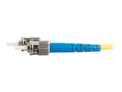 C2G 15m ST-ST 9/125 OS1 Duplex Singlemode PVC Fibre Optic Cable (LSZH) - Yellow