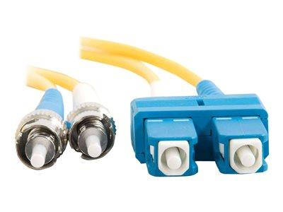 C2G 2m SC-ST 9/125 OS1 Duplex Singlemode PVC Fibre Optic Cable (LSZH) - Yellow